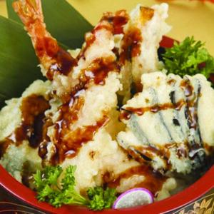 Riso bianco con tempura