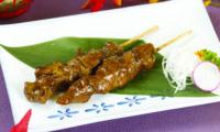 Spiedini di pollo alla griglia con salsa teriyaki
