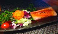 Salmone alla griglia con salsa teriyaki