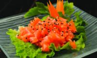 Salmone tritato con salsa miso