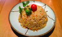 Pan fried rice with vegetables